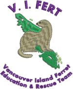 V.I. FERT (Vancouver Island Ferret Education & Rescue Team) logo